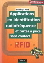 Vente  Applications en identification radiofrequence et cartes a puces sans contact  - Paret - Dominique Paret