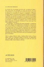 Le livre des prodiges - 4ème de couverture - Format classique