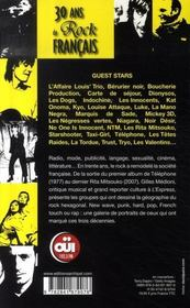 30 ans de rock français, de téléphone à dionysos - 4ème de couverture - Format classique