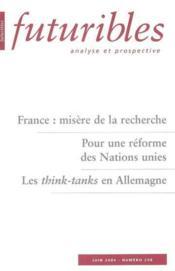 France : misere de la recherche - Couverture - Format classique