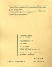Adam, ève et descendance - 4ème de couverture - Format classique