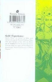 Jojo'S Bizarre Adventure - Golden Wind T.1 - 4ème de couverture - Format classique