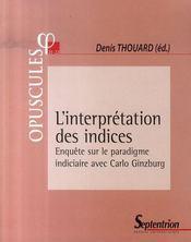 L'interprétation des indices - Intérieur - Format classique