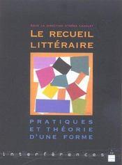 Recueil Litteraire - Intérieur - Format classique