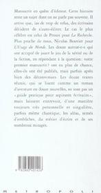 Manuscrits en quete d'editeurs - 4ème de couverture - Format classique