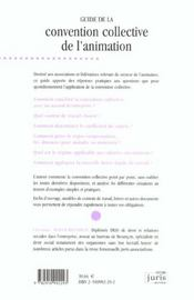Guide De La Convention Collective De L'Animation - 2e Ed. - 4ème de couverture - Format classique