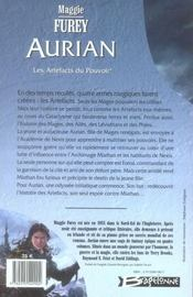 Aurian t.1 ; les artefacts du pouvoir - 4ème de couverture - Format classique