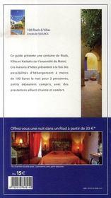 Maroc ; 100 riads et villas a moins de 100 euros (edition 2007-2008) - 4ème de couverture - Format classique