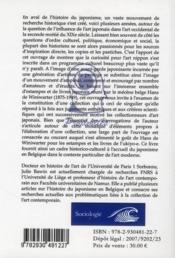 La collection au temps du japonisme ; un pionnier en belgique : hans de miniwarter - 4ème de couverture - Format classique