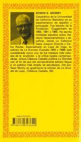 Lope de vega la dorotea - 4ème de couverture - Format classique