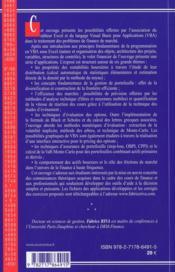 Applications Financieres Sous Excel 4 Ed - 4ème de couverture - Format classique
