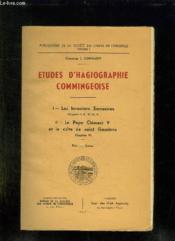 Etude D Hagiographie Commingeoise. Les Invasions Sarrasines, Le Pape Clement V Et Le Culte De Saint Gaudens. - Couverture - Format classique