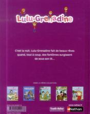 Lulu grenadine fait des cauchemars - 4ème de couverture - Format classique