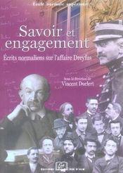 Savoir et engagement ; écrits normaliens sur l'affaire dreyfus - Intérieur - Format classique