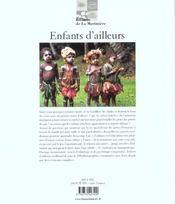 Enfants D'Ailleurs - 4ème de couverture - Format classique