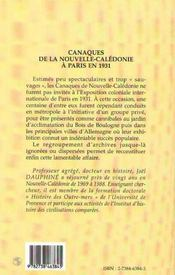 Canaques De La Nouvelle Caledonie A Paris En 1931 ; De La Case Au Zoo - 4ème de couverture - Format classique