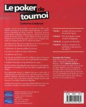 Le poker de tournoi - 4ème de couverture - Format classique