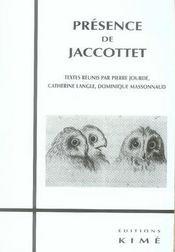 Présence de jaccottet - Intérieur - Format classique
