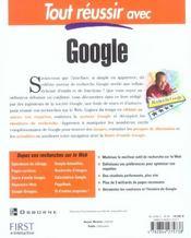 Tout Reussir Avec Google - 4ème de couverture - Format classique