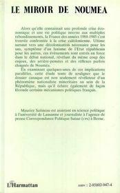 Le Miroir De Noumea ; La Classe Politique Francaise Face A La Crise Caledonienne - 4ème de couverture - Format classique