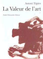 La valeur de l'art - Couverture - Format classique
