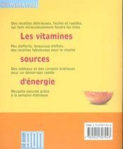Regimes vitamines - 4ème de couverture - Format classique
