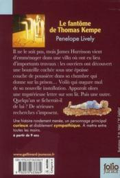 Livre le fant me de thomas kempe penelope lively for Les portent claquent