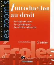 Vente  Introduction au droit (2e édition)  - Laetitia Lethielleux