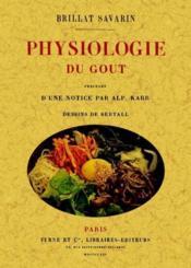 Phyisiologie du goût - Couverture - Format classique