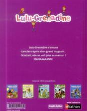 Lulu grenadine se perd dans un grand magasin - 4ème de couverture - Format classique