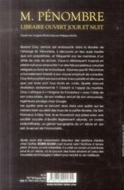 M.Pénombre ; libraire ouvert jour et nuit - 4ème de couverture - Format classique
