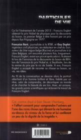 Particules de vie - 4ème de couverture - Format classique