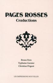 Vente livre :  Pages rosses ; craductions  - Christian Prigent - Bruno Fern - Typhaine Garnier