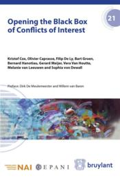 Vente livre :  Opening the black box of conflicts of interest  - Collectif