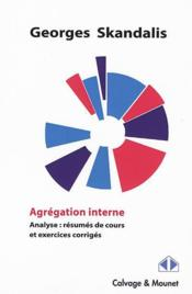 Vente  Agrégation interne ; analyse  - Georges Skandalis