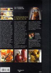 Conserves et bocaux - 4ème de couverture - Format classique
