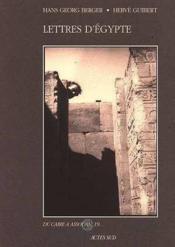 Lettres D'Egypte - Couverture - Format classique
