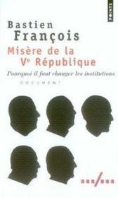 Misère de la V république - Couverture - Format classique