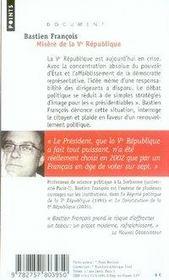 Misère de la V république - 4ème de couverture - Format classique
