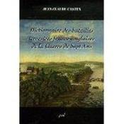 Dictionnaire des batailles terrestres franco anglaises dela guerr - Couverture - Format classique