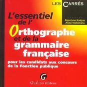 L'Essentiel De L'Orthographe Et De La Grammaire Francaise - Intérieur - Format classique