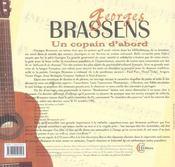 Georges Brassens - Un Copain D'Abord - 4ème de couverture - Format classique