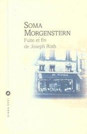 Fuite Et Fin De Joseph Roth - Intérieur - Format classique