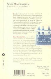 Fuite Et Fin De Joseph Roth - 4ème de couverture - Format classique