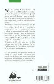 Quatre Brigands Du Huabei (Les) Ancienne Edition - 4ème de couverture - Format classique