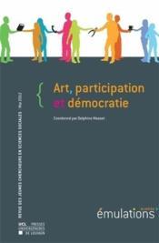Art, Participation Et Democratie Emulations 9 - Couverture - Format classique