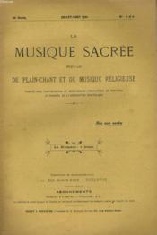 LA MUSIQUE SACREE N°7 ET 8 - 20ème année - Couverture - Format classique
