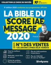 Vente  La bible du score IAE message (édition 2020)  - Franck Attelan