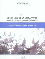Les soldes de la loi Raffarin ; le contrôle du grand commerce alimentaire - Intérieur - Format classique
