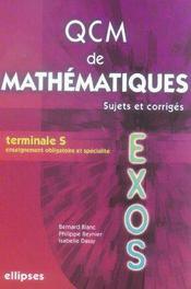 Qcm De Mathematiques Sujets Et Corriges Terminale S - Intérieur - Format classique